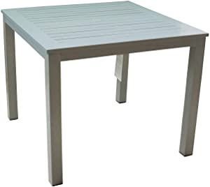 Courtyard Casual 5077 Skyline Collection Outdoor Dining Table, Grey
