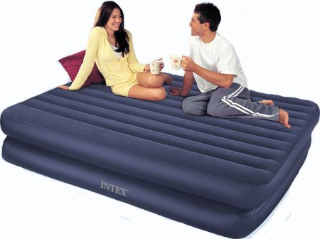 Intex Recreation Confort Frame Queen Airbed Kit, Outdoor Stuffs