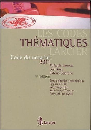 En ligne téléchargement Code du notariat 2011 pdf