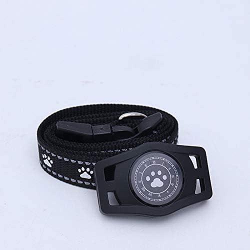 ケーブルキティネックレスモニターの活動を監視せずに、リアルタイムのデバイスのないミニGPSトラッカーペット、防水(新モデル)-White,黒