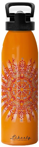 Liberty Bottleworks Radiant Aluminum Water Bottle, Made in USA, 24oz, Ember, Sport - Ember Sport