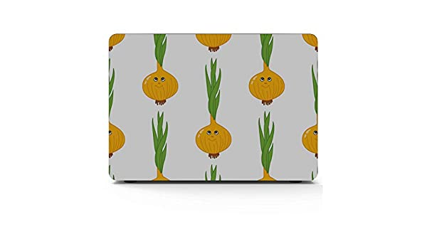 Mac Covers Cartoon Smiling Onion Vegetables Plastic Hard Shell Compatible Mac Air 11 Pro 13 15 Mac Book Pro Covers Protection for MacBook 2016-2019 Version