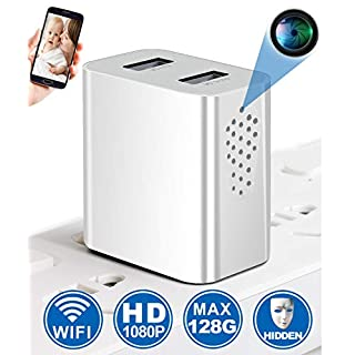Spy Camera Wireless Hidden WiFi Camera with Remote Viewing, 【Side View】 1080P HD USB Charger Camera, Nanny Cam/Secret Camera/Security Camera, Perfect for Power Strip, Motion Activated, No Audio