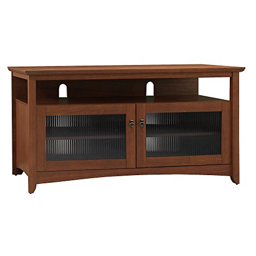 Bush Furniture Glass Tv Stand (Bush Furniture Buena Vista TV Stand in Serene Cherry)