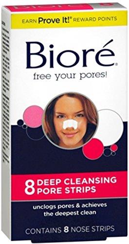 Biore Pore Nose Strips Size 8ct Biore Deep Cleaning Pore Strips (Biore Deep Cleansing Pore Strips 8 Count)