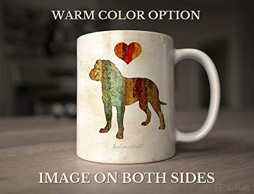 Bullmastiff Mug - Bullmastiff Dog Breed Mug by Dan Morris, Personalize with Dog Name