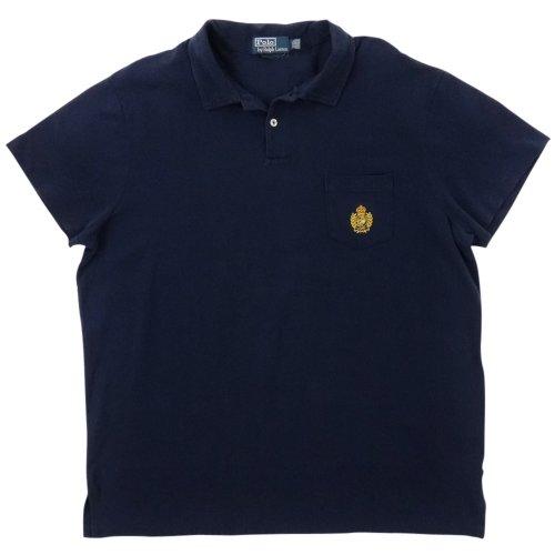 Polo Ralph Lauren Men's Custom Fit Pocket Cotton Polo Shirt (XXL, Navy)
