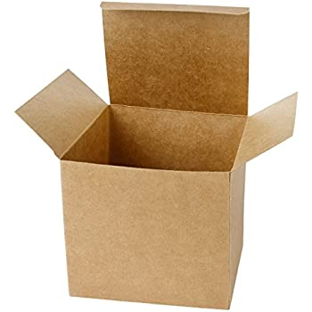 Laribbons 20pcs Recycled Gift Boxes 6 X 6 X 6 Inches Brown Paper Box Kraft Cardboard Boxes With Lids For Party Wedding Gift Wrap