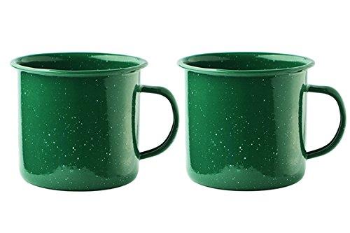 Asobu Happy Trails Classic Country Camper Coffee and Tea Mug (Green 2 Pack)