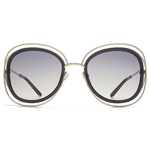Chloe Women's Carlina Gold/Transparent Grey - Chloe Sunglasses Carlina