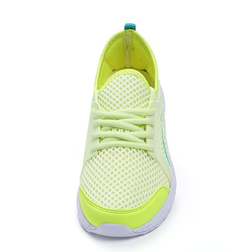 Green Sport Shoes Running Ultra Women's Walking Lightweight Casual Breathable Mxson Mesh Sneakers 7AFSxwq