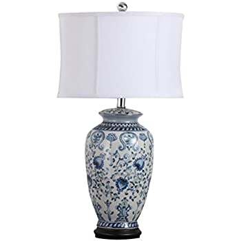 Blue and White Porcelain Temple Jar Table Lamp - - Amazon.com