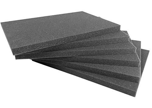 10 Stk. Rasterschaumstoff-Einlage für Eurobehälter Serie TK 400, 362x260x15mm, Rastermaß 15x15mm, aus PU, made in Germany 1a-Topstore