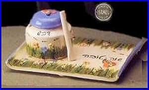 Ceramic Honey Jar and Plate