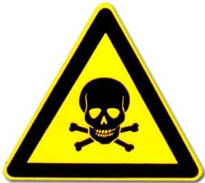 Cartel de Advertencia: pictograma–Alerta contra sustancias tóxicas–cartel warnschild warnzeichen trabajo Placa para puerta Seguridad Puerta plástico plástico placa regalo Cumpleaños–Camiseta