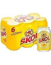 SKOL Beer can, 320ml (Pack of 6)