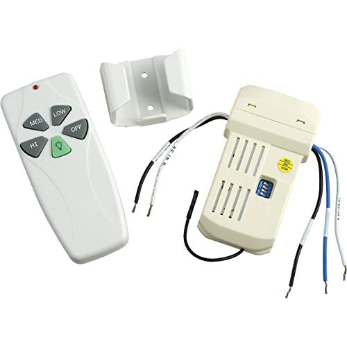 Progress Lighting P2618-01 Fan/Light Remote Provides Fan Speed and Light Control from Handheld Remote from Progress Lighting