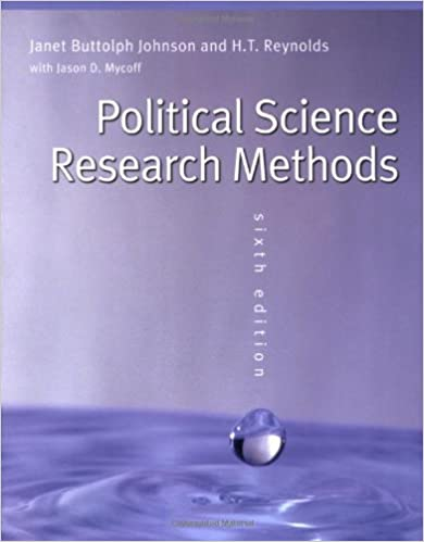 Political Science Research Methods: Janet Buttolph Johnson, H. T. Reynolds:  9780872894426: Amazon.com: Books