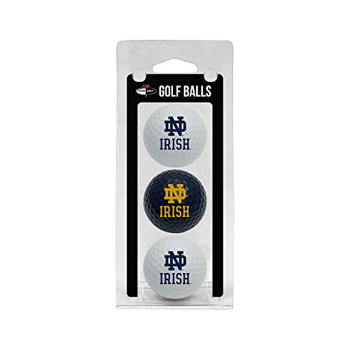Team Golf NCAA Notre Dame Fighting Irish Regulation Size Golf Balls, 3 Pack, Full Color Durable Team Imprint