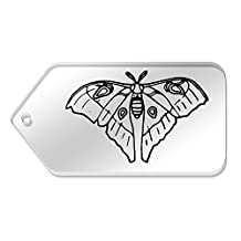 10 x Large 'Silk Moth' Clear Gift / Luggage Tags (TG00065108)