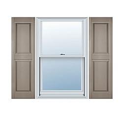 Standard Size Williamsburg Double Panel Shutters, w/Installation Shutter-Lok's (Per Pair)