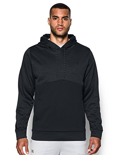 Under Armour Men's Storm Armour Fleece Twist Hoodie, Black/Black,