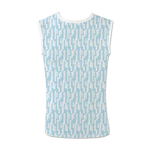 Light Blue Comfortable Tank Top,Wall with Brushstrokes Seem Made by a Painter Modern Minimalist Design for Men,M