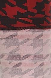Leggings Depot NEW High Waist Popular Print Women\'s Leggings Pants Style Batch5 (Crimson Houndstooth)