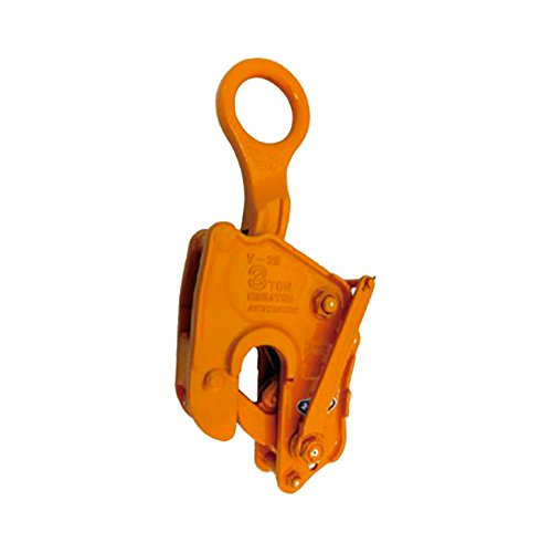 三木ネツレン 竪吊クランプ V25L型 ワンタッチ安全ロック式 V25L10A 使用荷重10t クランプ範囲0~50mm 荷重に比例しクランプ力が増加する構造 コT【代不】 B06X94RYM9
