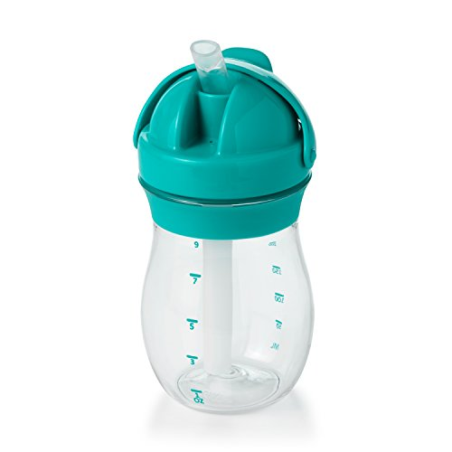 OXO Tot Transitions Straw Cup, Teal, 9 Ounce