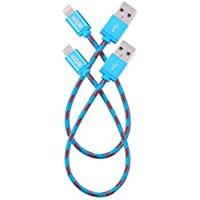 STM Elite Cable, Braided Lightning & Micro USB Cable 2pk (20cm) - Blue (stm-931-100Z-20)
