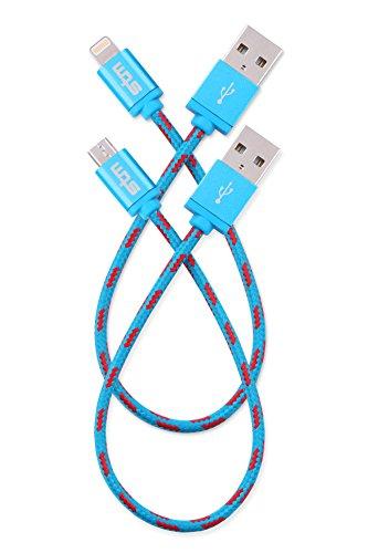STM Elite Cable, Braided Lightning & Micro USB Cable 2pk (20cm) - Blue (stm-931-100Z-20) (Cables Stm Blue)