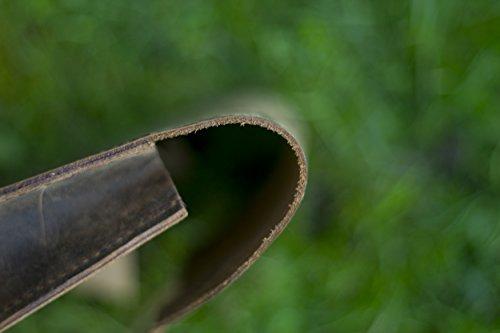 Satchel Tasche für Fahrrad Rahmen Echt Leder Old Brown
