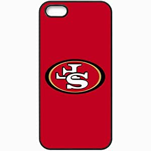 Personalized iPhone 5 5S Cell phone Case/Cover Skin Nfl San Francisco 49ers 6 Sport Black by lolosakes