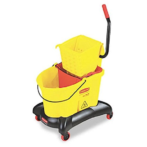 RCP768000YW - Rubbermaid-Wave Break Dual Side Press,Yellow by Rubbermaid Commercial