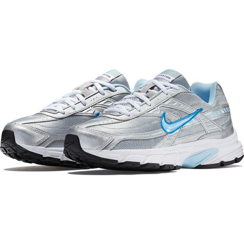 8a4363aa27a Galleon - Nike Women s Initiator Metallic Silver Ice Blue-White Ankle-High Running  Shoe - 6M