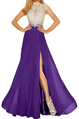 Donna festa line vestito abito Tuell abito ivyd Violett Party Elegante A due pietre ressing sera Chiffon NOTEBOOK amp; Prom di pvwO5qC