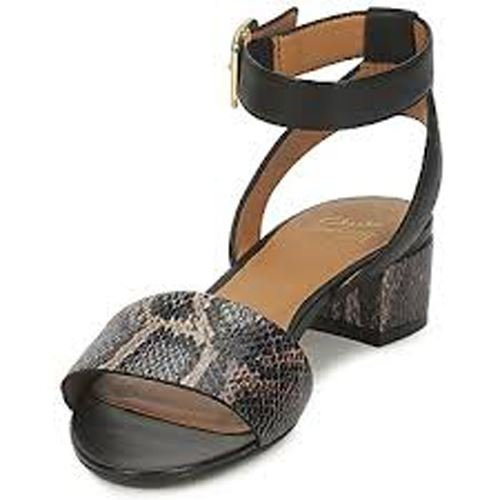 35f13af7f407 Womens Clarks Black Leather Sharna Balcony Sandals 5D  Amazon.co.uk  Shoes    Bags