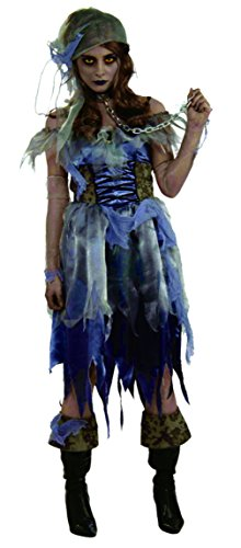 Forum Novelties Womens Fancy Halloween Zombie Pirate Ghost Theme Party Costume, One Size