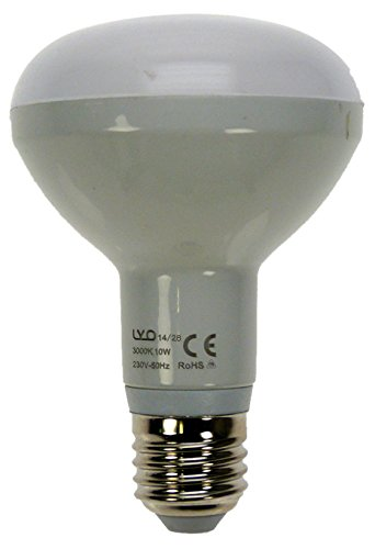 LYO 10047 - Bombilla reflectora LED, R63, 8 W, E27, 720 lm, 160º, luz cálida: Amazon.es: Iluminación
