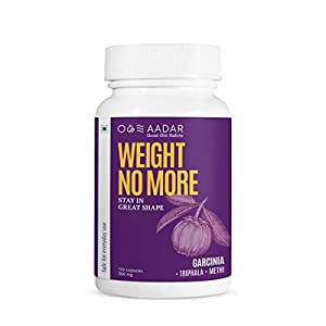 AADAR WEIGHT NO MORE | Natural Weight Loss Supplement | 120 Capsules | Belly Fat Burner for Men and Women