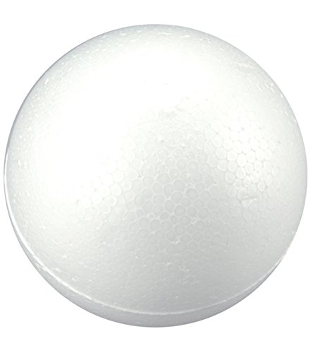 8 Inch (20 cm) Smooth Foam Ball for Crafting, School and Science Modeling Projects, Floral Decorations Foam Paint Decorative Styrofoam Ball For Wedding Decor, Homework Art And More ()
