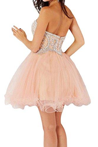 Sunvary una di paillette Sweetheart raso abito Homecoming Rosa da linea in organza sposa conti Fiesta ggBFrqw