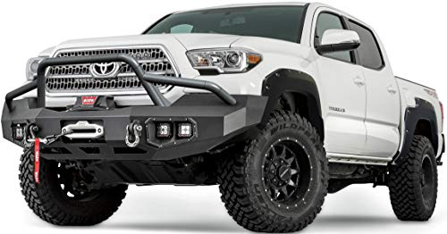WARN 102030 4X Fender Flare Set - Fits: 2014-18 Toyota Tacoma, All Beds