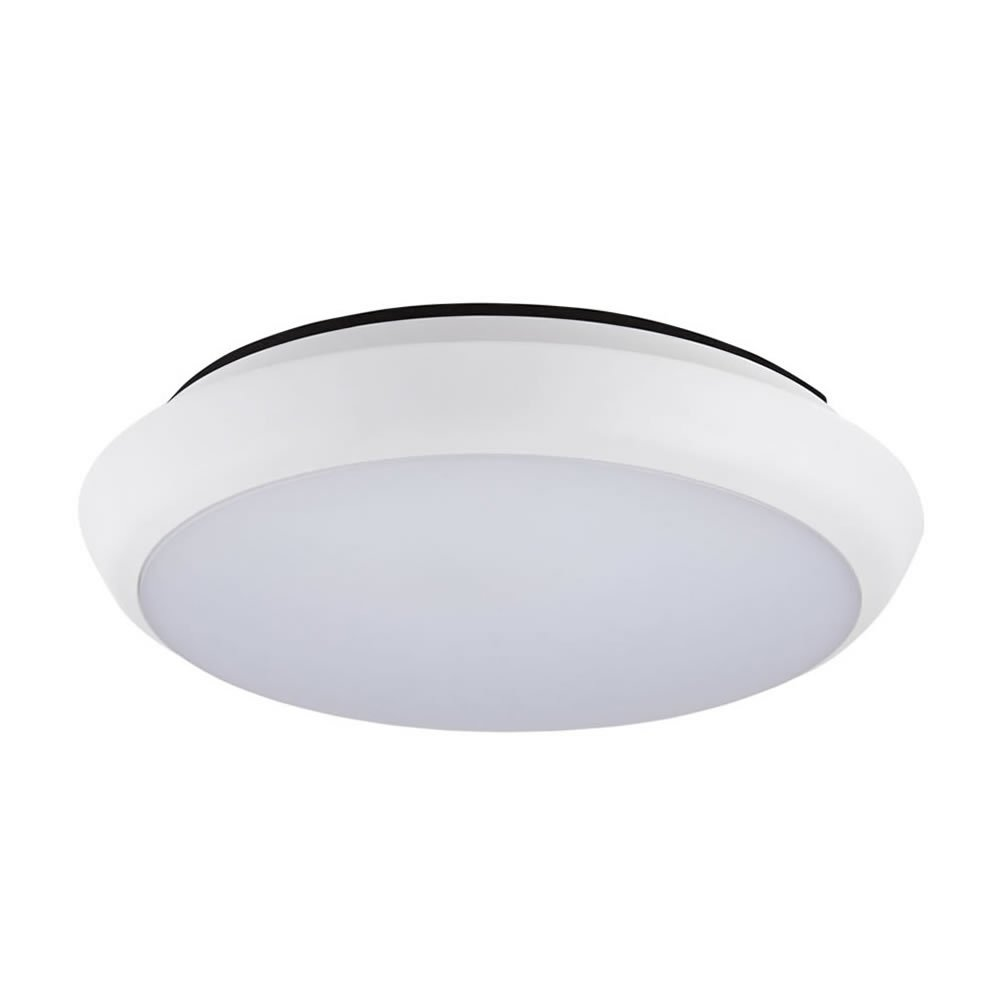 Biard 12W LED Round Ceiling or Wall Light Lamp Fixture - Cool White 6000K - IP54 Waterproof for Bathroom, Kitchen & Outdoor Fitting