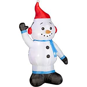 GEMMY INDUSTRIES Inflatable Snowman Outdoor Decor, 7-Feet