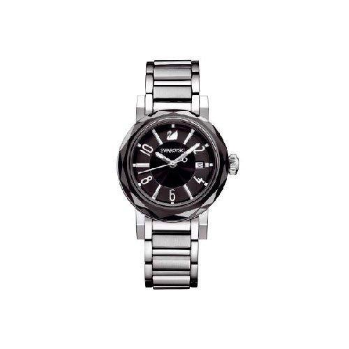 Swarovski 999976 - Reloj analógico de cuarzo para mujer con correa de acero inoxidable, color plateado: Amazon.es: Relojes