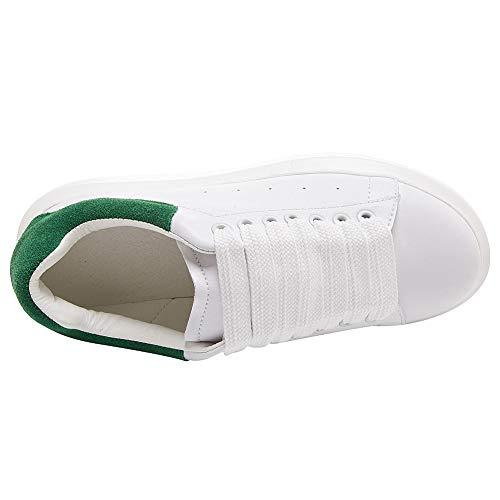Donne amp;verde Basso Formatori 7700 Bianca Casuale Top Scarpe Comodo Pelle Shenn qdwCv7xRC