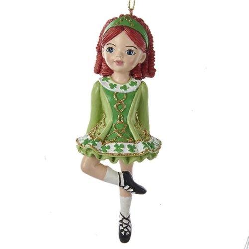 Kurt Adler 5'' Resin Sugar Art Irish Girl Ornament
