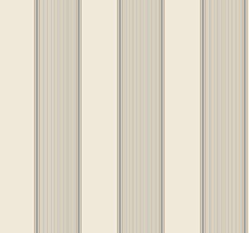 (York Wallcoverings Williamsburg III Somerset Strié Stripe Removable Wallpaper, White)
